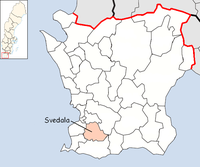 Svedala in Skåne county