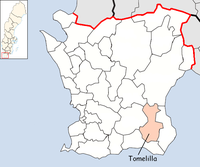 Tomelilla in Skåne county